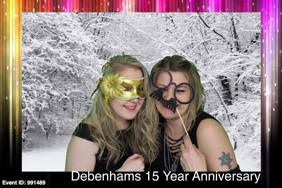 Debenhams 15 Year Anniversary Party Inspiration Photo Booths